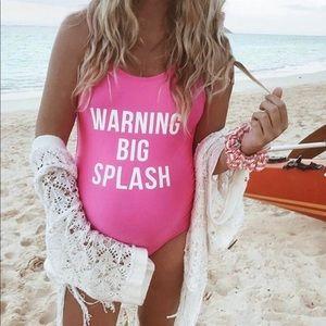 Warning big splash maternity swimsuit MAMAGAMA